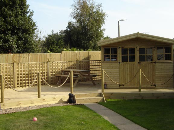 Decking Fencing And Sectional Building Manufacturers - Garden decking rope